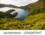panoramic view point... | Shutterstock . vector #1256387347