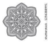 mandala. circle ethnic ornament.... | Shutterstock .eps vector #1256388991