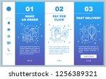 online shopping onboarding... | Shutterstock .eps vector #1256389321