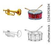 vector illustration of music... | Shutterstock .eps vector #1256392834