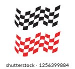 race flag icon  simple design... | Shutterstock .eps vector #1256399884