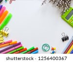 home office workspace mockup... | Shutterstock . vector #1256400367