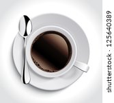 cup of coffee | Shutterstock .eps vector #125640389