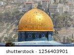 mousque of al aqsa  dome of the ... | Shutterstock . vector #1256403901
