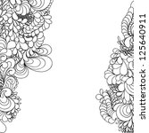 abstract hand drawn pattern ... | Shutterstock .eps vector #125640911