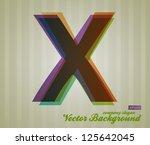 color transparency letter.... | Shutterstock .eps vector #125642045