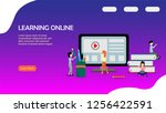 web page design for online... | Shutterstock .eps vector #1256422591