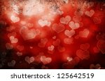 valentine day background with... | Shutterstock . vector #125642519