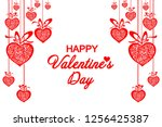 happy valentine's day ... | Shutterstock .eps vector #1256425387