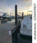 marina floating dock | Shutterstock . vector #1256429827