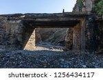 dyke bridge in ruins towards an ...   Shutterstock . vector #1256434117