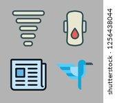 rain icon set. vector set about ...   Shutterstock .eps vector #1256438044
