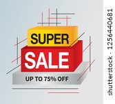sale and special offer tag ... | Shutterstock .eps vector #1256440681