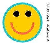 happy smiling face emoticon...   Shutterstock .eps vector #1256443111