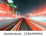 motions of lights  long... | Shutterstock . vector #1256444044