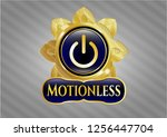 gold shiny badge with power... | Shutterstock .eps vector #1256447704
