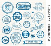 set of hand drawn style badges... | Shutterstock .eps vector #125644949
