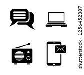 media broadcasting. simple... | Shutterstock .eps vector #1256452387
