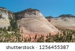 panoramic aerial view of zion... | Shutterstock . vector #1256455387