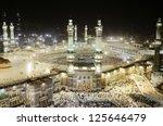mecca   july 21   kaaba on july ... | Shutterstock . vector #125646479