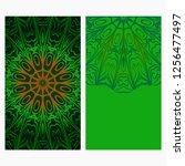 design vintage cards with... | Shutterstock .eps vector #1256477497