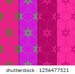 set of pattern of abstract... | Shutterstock .eps vector #1256477521