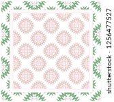 bandanna print with geometric... | Shutterstock .eps vector #1256477527