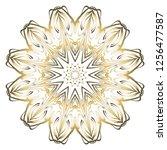 ornamental circle pattern. hand ... | Shutterstock .eps vector #1256477587