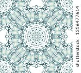 floral geometric pattern with... | Shutterstock .eps vector #1256477614