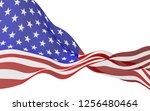 waving flag of the united... | Shutterstock . vector #1256480464