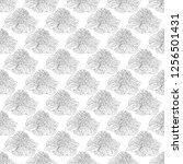 seamless pattern. plant in... | Shutterstock .eps vector #1256501431