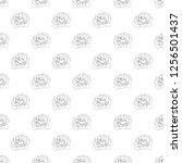seamless pattern. plant in... | Shutterstock .eps vector #1256501437