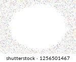elegant pattern with polka dots ... | Shutterstock .eps vector #1256501467