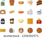 color flat icon set cake flat... | Shutterstock .eps vector #1256502571