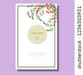 pattern of twigs with orange... | Shutterstock .eps vector #1256503951