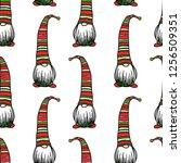 vector seamless pattern with... | Shutterstock .eps vector #1256509351