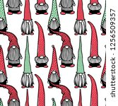 vector seamless pattern with... | Shutterstock .eps vector #1256509357