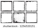 grunge frames set.grunge... | Shutterstock .eps vector #1256520151