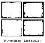 grunge frames set.grunge... | Shutterstock .eps vector #1256520154