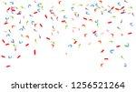 colorful bright confetti...   Shutterstock .eps vector #1256521264