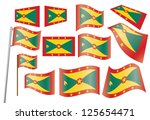 set of flags of grenada | Shutterstock . vector #125654471