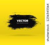 abstract grunge banner. brush... | Shutterstock .eps vector #1256545564