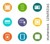 technical component icons set....   Shutterstock . vector #1256552161