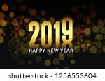 new year 2019 card backgrounds. ...   Shutterstock . vector #1256553604