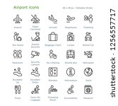 airport icons   outline styled... | Shutterstock .eps vector #1256557717