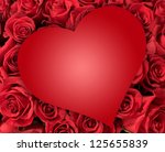 Red Heart Over Many Roses  ...
