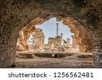 view of the antonine baths in... | Shutterstock . vector #1256562481