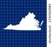 vector map of virginia   Shutterstock .eps vector #1256563084