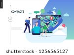business series  color 3  ... | Shutterstock .eps vector #1256565127