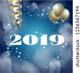 2019 new year  christmas vector ...   Shutterstock .eps vector #1256567194